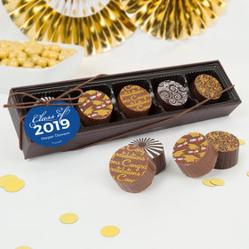 Personalized Graduation Script Gourmet Chocolate Truffle Gift Box (5 Truffles)