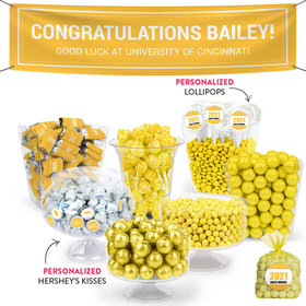 Personalized Yellow Graduation School Color Deluxe Candy Buffet