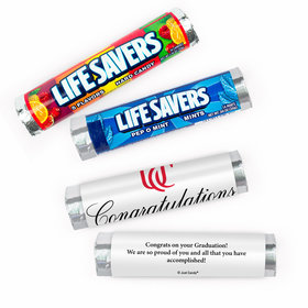 Personalized Graduation Congratulations School Logo Lifesavers Rolls (20 Rolls)