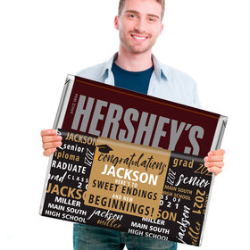 Graduation Gifts Personalized 5lb Hershey's Chocolate Bar (5lb Bar) - Word Cloud