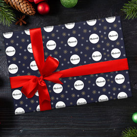 Custom Wrapping Paper - Corporate Logo Christmas