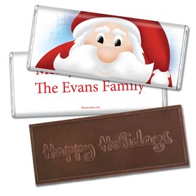 Ho Ho Ho SantaEmbossed Happy Holidays Bar Personalized Embossed Chocolate Bar Assembled