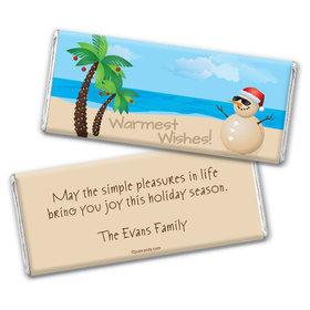 Sandy Snowman Personalized Candy Bar - Wrapper Only