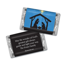 Holy Night Christmas Personalized Miniature Wrappers