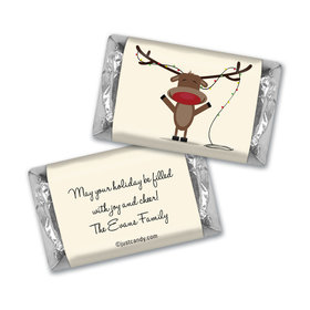 Red Nosed Reindeer Christmas MINIATURES Candy Personalized Assembled