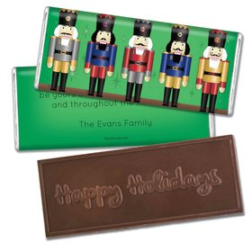 Nutcrackers a PlentyEmbossed Happy Holidays Bar Personalized Embossed Chocolate Bar Assembled