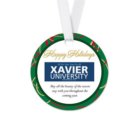 Personalized Christmas Ribbons Round Favor Gift Tags (20 Pack)