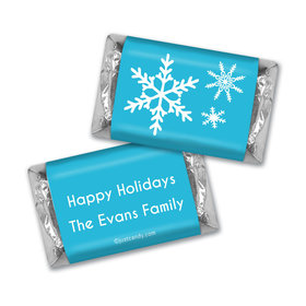 Happy Holidays Personalized HERSHEY'S MINIATURES Holiday Snowflakes
