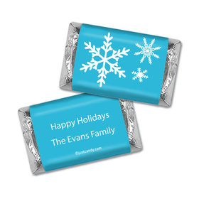 Happy Holidays Personalized HERSHEY'S MINIATURES Wrappers Holiday Snowflakes