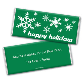 Holiday Flurries Personalized Candy Bar - Wrapper Only