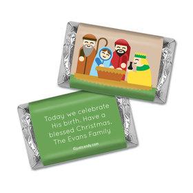Celebrate His Birth Christmas Personalized Miniature Wrappers