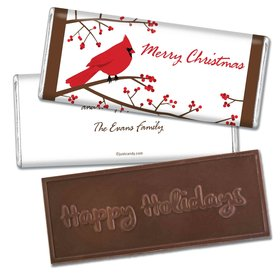 Icy PerchEmbossed Happy Holidays Bar Personalized Embossed Chocolate Bar Assembled