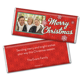 Christmas Personalized Chocolate Bar Merry Christmas Photo