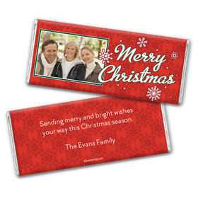 Ruby Snowflakes Personalized Candy Bar - Wrapper Only