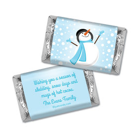 Catching Snowflakes Christmas Personalized Miniature Wrappers