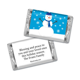 Friendly Frosty Christmas Personalized Miniature Wrappers
