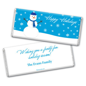 Friendly Frosty Personalized Candy Bar - Wrapper Only