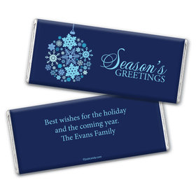 Snowflake Ornament Personalized Candy Bar - Wrapper Only