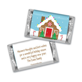 Gingerbread House Christmas MINIATURES Candy Personalized Assembled