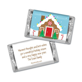 Gingerbread House Christmas Personalized Miniature Wrappers