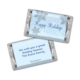Frosty Holiday Christmas Personalized Miniature Wrappers