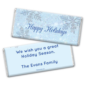 Frosty Holiday Personalized Candy Bar - Wrapper Only