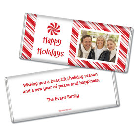 Christmas Personalized Chocolate Bar Peppermint Candy Photo