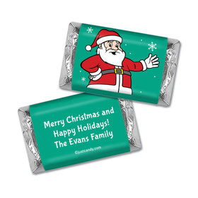 Very Merry Santa Christmas Personalized Miniature Wrappers