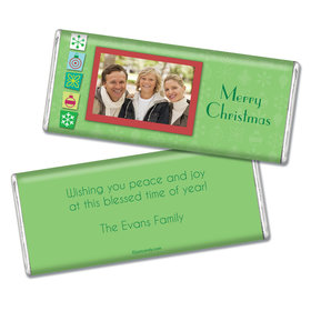 Christmas Personalized Chocolate Bar Christmas Cutouts with Photo