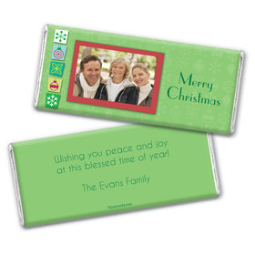 Christmas Cutouts Personalized Candy Bar - Wrapper Only