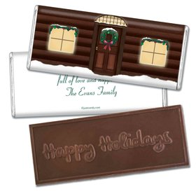 Home for the HolidaysEmbossed Happy Holidays Bar Personalized Embossed Chocolate Bar Assembled