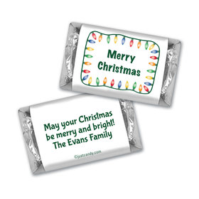 Christmas Personalized HERSHEY'S MINIATURES Multi Colored Christmas Lights