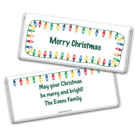 Christmas Lights Personalized Candy Bar - Wrapper Only