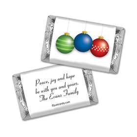 Ornament Trio Christmas Personalized Miniature Wrappers