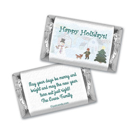 Happy Snowman Christmas MINIATURES Candy Personalized Assembled