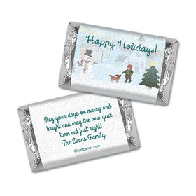 Happy Snowman Christmas Personalized Miniature Wrappers