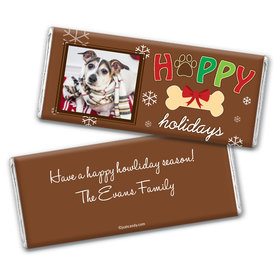 Happy Howlidays Personalized Candy Bar - Wrapper Only