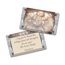 Christmas Personalized HERSHEY'S MINIATURES Wrappers Away in a Manger