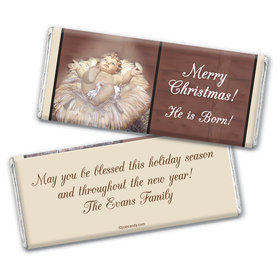 Away in a Manger Personalized Candy Bar - Wrapper Only