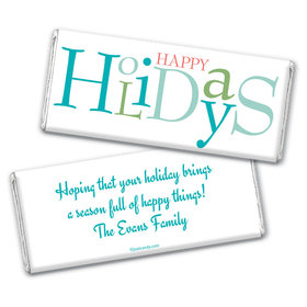 Happy Season Personalized Candy Bar - Wrapper Only