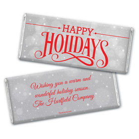 Cozy Holiday Personalized Candy Bar - Wrapper Only