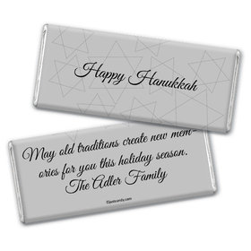 Hanukkah Personalized Chocolate Bar Silver Star of David