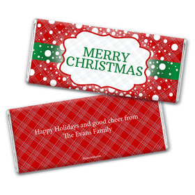 Let it Snow Christmas Favors Personalized Candy Bar - Wrapper Only
