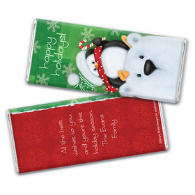 Polar Party Holiday Personalized Candy Bar - Wrapper Only