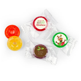 Personalized Life Savers 5 Flavor Hard Candy - Christmas Jolly Reindeer