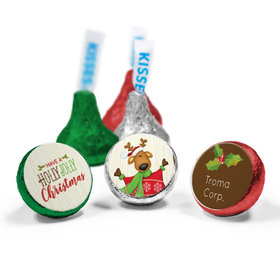 Personalized Hershey's Kisses - Christmas Jolly Reindeer (50 Pack)
