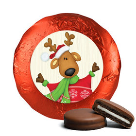 Personalized Chocolate Covered Oreos - Christmas Jolly Reindeer