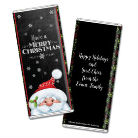 Silent Night Santa Personalized Candy Bar - Wrapper Only