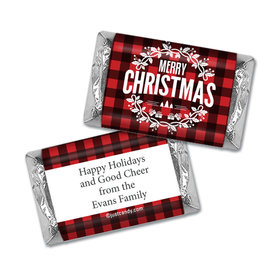 Festively Flannel Christmas Personalized Miniature Wrappers