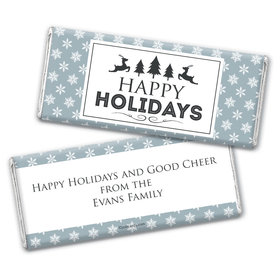 Frosted Fun Holiday Favors Personalized Candy Bar - Wrapper Only